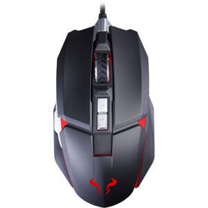 Mouse Gamer Riotoro Aurox, 10000 DPI, 8 Botões Programáveis, Sensor PixArt PWM 3330, Black   R$ 109