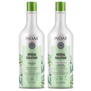 [PRIME] Inoar Herbal Solution Kit Shampoo e Condicionador Suave 1L | R$33,32