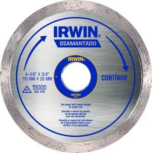 (Prime) Irwin, Disco Diamantado Liso Standard 110 x 20 mm, Prata   R$11