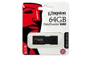 [PRIME] Pen Drive Kingston Datatraveler 100G3 64Gb - R$ 59