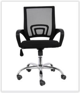 Cadeira de Escritório Com Base Cromada - BY017 - Preto | R$ 200