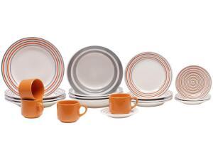Aparelho de Jantar Chá 20 Peças Biona Cerâmica - Redondo 079943 | R$ 130