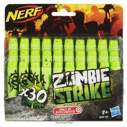 Refil Nerf Zombie 30 Dardos Hasbro Verde   R$22