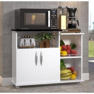 Fruteira Balcão Para Cozinha Multiuso Organizador Preto | R$ 135