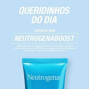 Cupom em itens da neutrogena 30,00 em 40,00