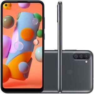 Smartphone Samsung Galaxy A11 Preto 64GB   R$978