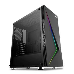Gabinete Gamer Pichau Komor LED RGB Lateral em Vidro Temp, PGK-01-RGB | R$266