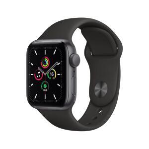 Apple Watch SE (GPS) 44mm caixa cinza-espacial de alumínio com pulseira esportiva preta | R$ 3.257