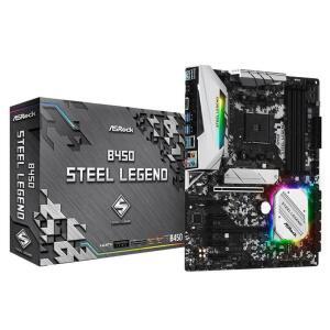 Placa Mae ASROCK B450 Steel Legend AM4 USB 3.1 GEN1 / TYPE-C / DDR4 / Displayport, HDMI