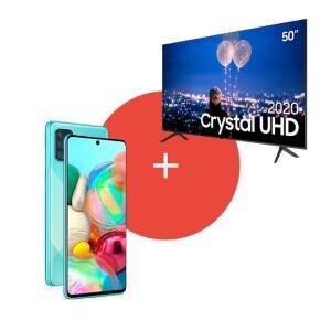 Smart tv Samsung tu8000 50'' + Smartphone Samsung a71 - R$3688