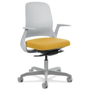 Cadeira My Chair Light Grey Yellow | R$606