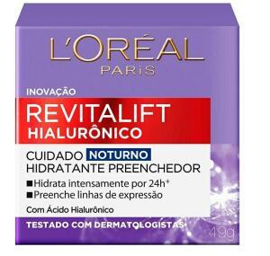 [Recorrência] Creme Revitalift Hialurônico Noturno, L'Oréal Paris R$27
