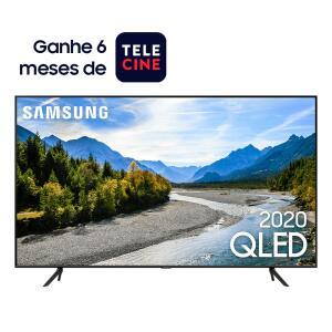 "Smart TV 55"" Pontos Quânticos, Design sem Limites, Alexa built in, Modo Ambiente Foto, Controle Único, Visual Livre de Cabos QN55Q60TAGXZD"