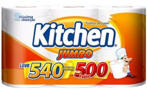 [Cliente Ouro/Compre 4 pague 3] Papel Toalha Kitchen | R$5