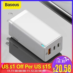 Baseus 65w gan usb carregador de carga rápida | R$180