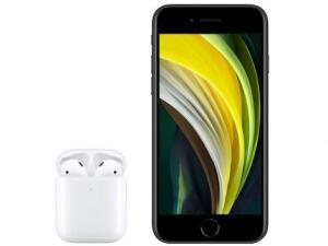 "iPhone SE Apple 64GB (+ AirPods com Estojo) Tela 4,7"" Retina | R$ 3688"