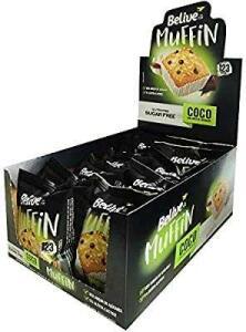 [Prime] Muffin Coco com Gotas de Chocolate Sem Açúcar Sem glúten Sem lactose Belive 40g Display com 10 unidades R$23