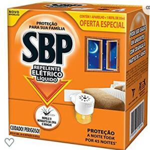 (comprando com recorrência) Repelente Elétrico Líquido 45 Noites Kit Com Aparelho e Refil, SBP - R$8