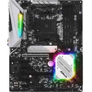 Placa Mãe ASRock B450 Steel Legend, Chipset B450, AMD AM4, ATX, DDR4 | R$ 949