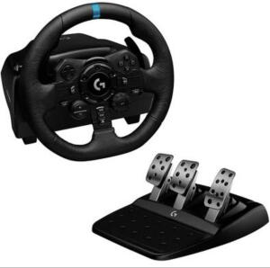 Volante Logitech G923, PS5, PS4, PC com Force Feedback TRUEFORC | R$ 2652