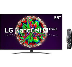 [R$2.328,45 C.C. Submarino] Smart TV LG 55'' 55NANO81 Ultra HD 4K NanoCell IPS WiFi Bluetooth HDR Inteligencia Artificial