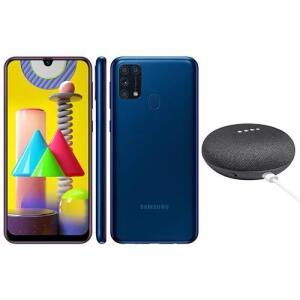 Smartphone Samsung Galaxy M31 Azul 128GB + Google Nest Mini | R$1699