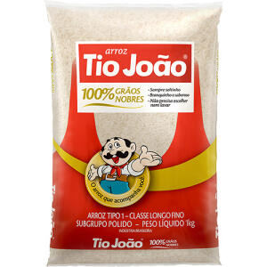 Arroz TIO JOÃO 1KG | R$4,49