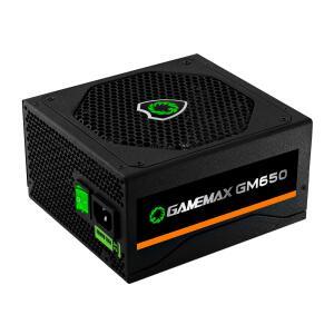 Fonte Gamemax GM650 650W, 80 Plus Bronze, PFC Ativo, Black | R$ 370