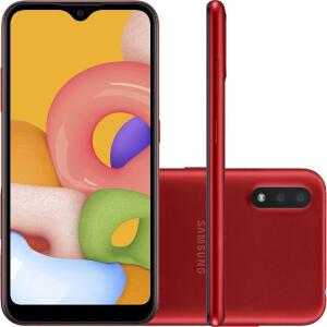 Samsung Galaxy A01 Vermelho Desbloqueado 32GB | R$719