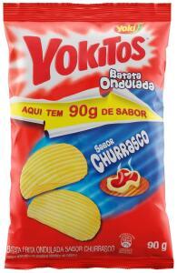 Batata Ondulada Churrasco Yoki 90g | 3,22