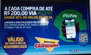 [PicPay] [RJ] 10% de Cashback nos Supermercados Guanabara.