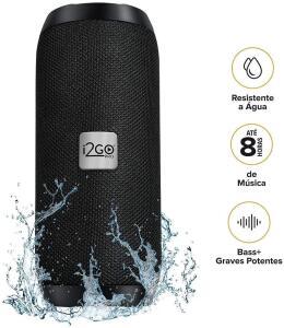 Caixa De Som Bluetooth Essential Sound Go I2go 10W RMS Resistente À Água, Preto - R$149