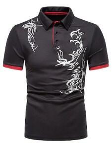Camisa Casual para Homens de Lapela Manga Curta | R$ 72