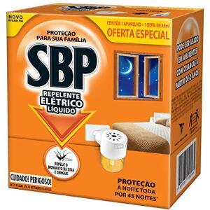 [PRIME] Repelente Elétrico Líquido 45 Noites Kit Com Aparelho e Refil, SBP | $7,92 com recorrência.