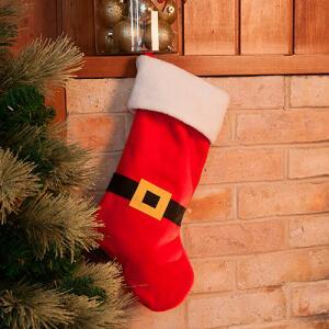 Bota natalina tradicional 48cm - Orb Christmas   R$ 5