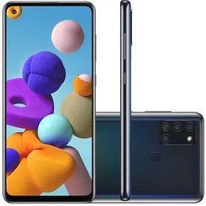 """(R$1097 com AME) Celular Samsung Galaxy A21s Preto 64GB Tela 6.5"""" 4GB RAM"""