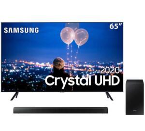 "Smart TV LED 65"" UHD 4K Samsung 65TU8000 + Soundbar Samsung HW-T550 | R$4499"