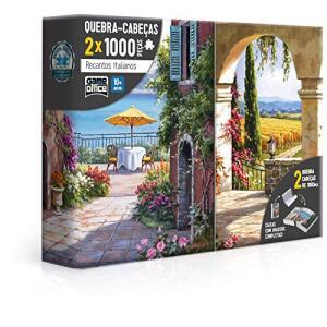 Quebra Cabeça 1000 peças (2x) - Recantos Italianos: Toscana e Vinha Italiana