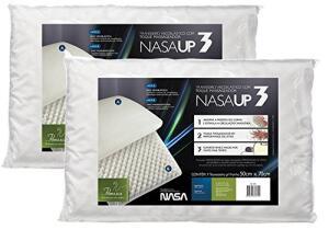 Kit 2 Peças Travesseiro Nasa Up 3 para Fronhas 50X70, Fibrasca, Revestimento 100% Poliéster, Branco R$64