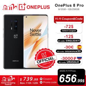 [11/11] Smartphone OnePlus 8 Pro 5G Global Rom 6,78 polegadas QHD + R$3.607