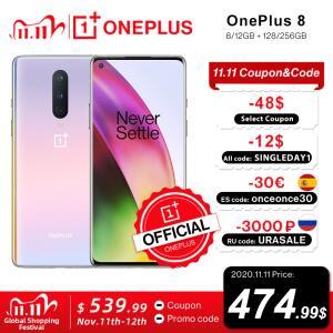 [11/11] Smartphone OnePlus 8 5G Global Rom 6.55 inch FHD+ 8GB 128GB R$2.577
