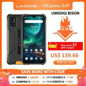 [11/11] Smartphone Umidigi Bison IP68 6GB+128GB NFC | R$761