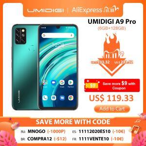 [11/11] Smartphone Umidigi A9 Pro 128GB/6GB | R$654
