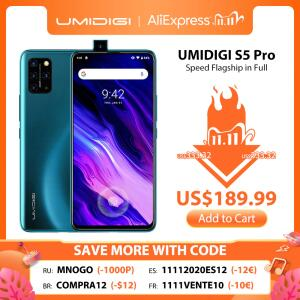 [11/11] Smartphone Umidigi S5 Pro 256GB + 6GB RAM   R$1.004