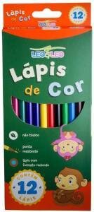Lapis 12 Cores Longo Sextavado, Leonora, Multicor | R$3,95