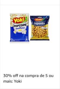 30% off na compra de 5 unidades Yoki