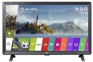 "Smart TV Monitor 24"" LED LG 24TL520S Wi-Fi WebOS 3.5 DTV Time Machine Ready, Preto - R$799"