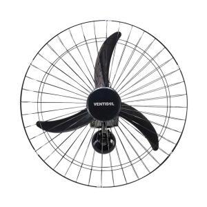 Ventilador de Parede Oscilante 60cm Grade Metálica Preta Ventisol - Bivolt | R$ 170