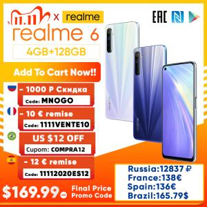 [11/11] Smartphone Realmee 6 NFC 8GB + 128GB | R$1.048