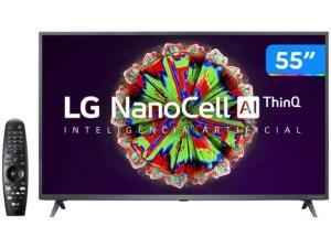 "Smart TV 4K UHD NanoCell IPS 55"" LG 55NANO79SND | R$2789"